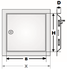 Dimensioner STANDARD inspektionslem