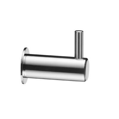 Krog til bad / håndklædekrog Aqua pin - poleret med bagplade