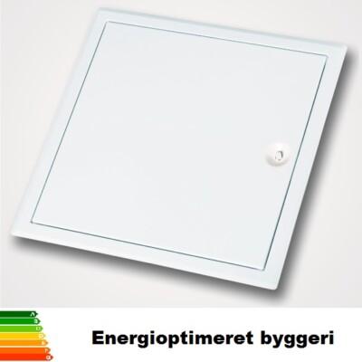 Luft og støvtæt inspektionslem til energioptimeret byggeri