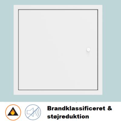 Brandklassificeret inspektionslem med støjreduktion [dB35]